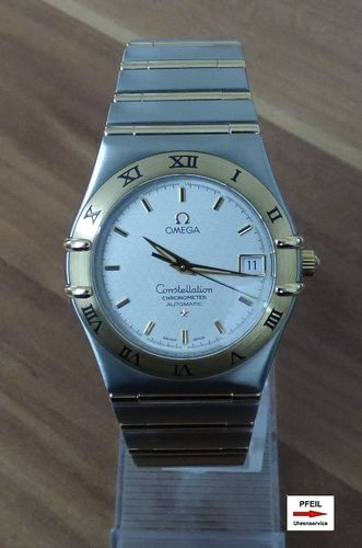 Omega Constellation Men Stahl /  18k Gelbgold Automatik