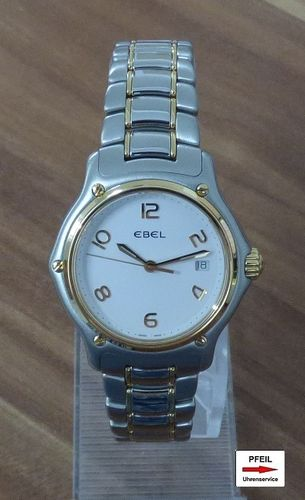 Ebel 1911 Lady Stahl/18k 750 Gold revisioniert