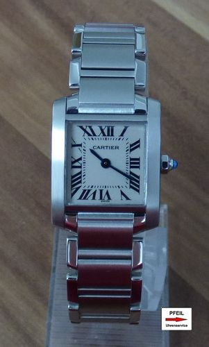 Cartier Tank Francaise kleines Modell Stahl