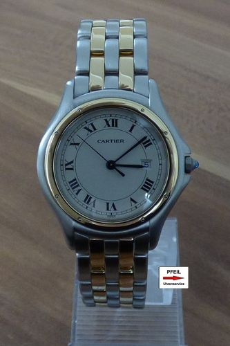 Cartier Panthere Cougar medium Modell Stahl / 18k Gold